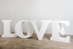 Grande photo faite main blanche de signe d'amour Image stock