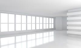 Grande pièce blanche d'affaires avec la fenêtre Photo stock