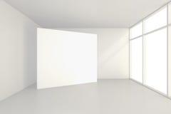Grande pièce vide avec les panneaux d'affichage debout rendu 3d Photo libre de droits