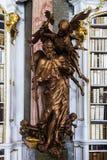 Grande più grande biblioteca in vecchia abbazia Fotografia Stock Libera da Diritti