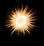 Grande pianeta di esplosione dell'oro Fotografia Stock Libera da Diritti