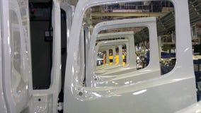 Grande pianta di camion industriale del negozio scena Fabbrica della saldatrice del diagramma Priorit? bassa industriale Pianta p fotografia stock