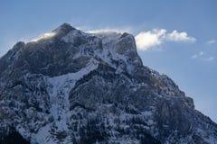 Grande picco di Morgon nell'inverno Hautes-Alpes, alpi, Francia Immagine Stock Libera da Diritti