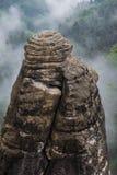 Grande pierre de Bastei images libres de droits