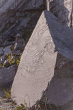 Grande pietra del granito immagini stock libere da diritti
