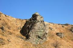 Grande pietra in montagna Fotografia Stock