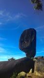 Grande pietra nera stupefacente Fotografie Stock Libere da Diritti