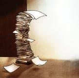 Grande pila di illustrazione di carta Fotografie Stock