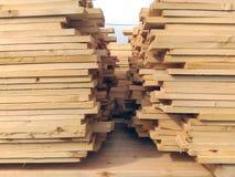 Grande pila di di legno Fotografia Stock Libera da Diritti