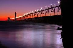 Grande pilastro del porto Fotografie Stock