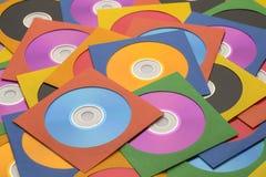 Grande pile CD Photo libre de droits
