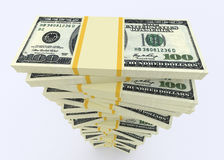Grande pile d'argent des dollars Etats-Unis argent de finances de concepts de calculatrice photos libres de droits