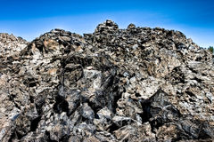 grande pile d'obsidien Photos stock