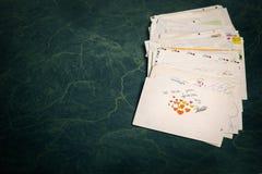 Grande pile de courrier Image libre de droits