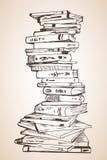 Grande pile de différents livres Photos libres de droits