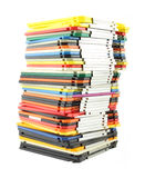 Grande pile de disques souples d'ordinateur Photos stock