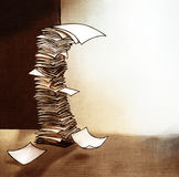 Grande pile de l'illustration de papier illustration libre de droits