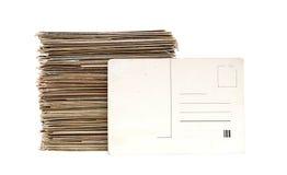 Grande pile de vieilles lettres et cartes postales Photographie stock libre de droits
