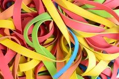 Tiras de borracha vibrantes Fotografia de Stock