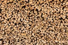 Grande pilha da madeira de faia Imagens de Stock