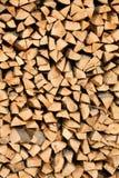 Grande pilha da madeira de faia Fotos de Stock