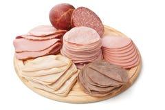 Grande pilha de carnes frias de Slised imagem de stock royalty free