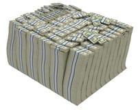 A grande pilha de dólares americanos Isolou-se Fotografia de Stock Royalty Free
