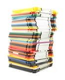 Grande pilha de discos flexíveis do computador Fotos de Stock