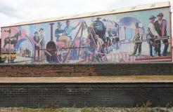 Grande pintura mural industrial da idade Fotografia de Stock Royalty Free