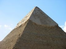 A grande pirâmide de Giza Fotografia de Stock