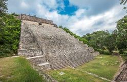 A grande pirâmide em Uxmal, Iucatão, México imagem de stock royalty free