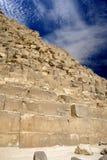 Grande piramide egiziana Fotografie Stock Libere da Diritti
