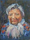 Grande pittura a olio della mamma fotografia stock