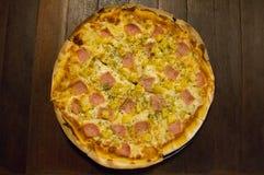 Grande pizza Foto de Stock