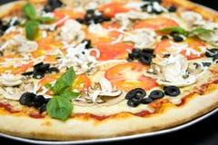 Grande pizza Fotografia Stock Libera da Diritti
