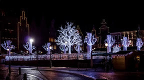 Grande place du marché pendant le Noël Image libre de droits