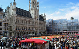 Grande Place in flowers Stock Photo