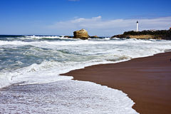 Grande Plage Biarritz Stock Photos