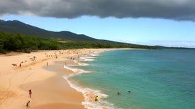 Grande plage de Makena Image libre de droits