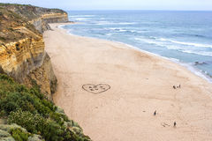Grande plage de route d'océan Image stock