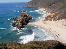 Grande plage de Sur Image libre de droits
