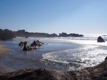 Grande plage de Sur Images libres de droits