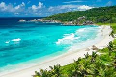 Grande playa de Anse Imagenes de archivo