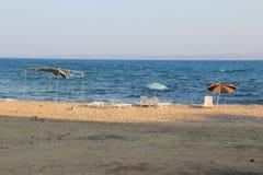 Grande playa en el golfo de Saroz Imagenes de archivo