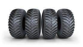 Grande pneu preto Imagens de Stock