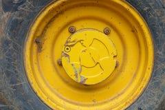 Grande pneumatico del camion Fotografia Stock Libera da Diritti