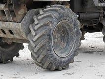 Grande pneumatico dell'industria pesante del camion fotografia stock libera da diritti