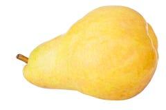 Grande poire jaune d'isolement sur le blanc Photo stock