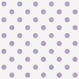 Grande polca roxa e branca Dots Pattern Repeat Background Fotos de Stock Royalty Free