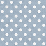 Grande polka bleue et blanche Dots Pattern Repeat Background illustration libre de droits